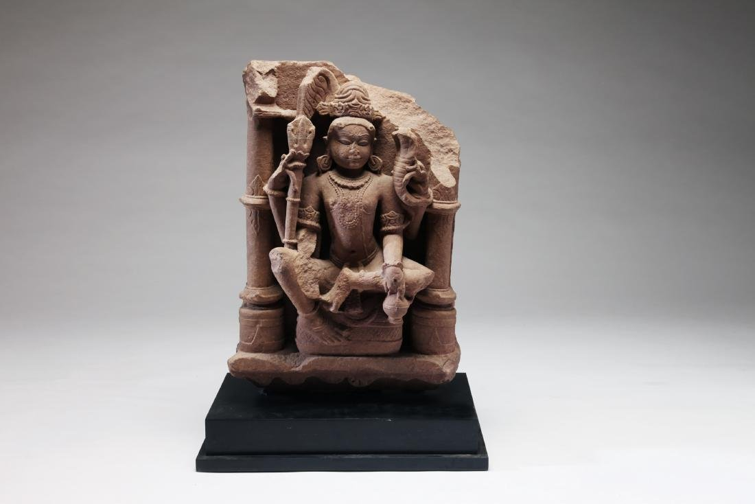 An Indian Sandstone Figure of Shiva