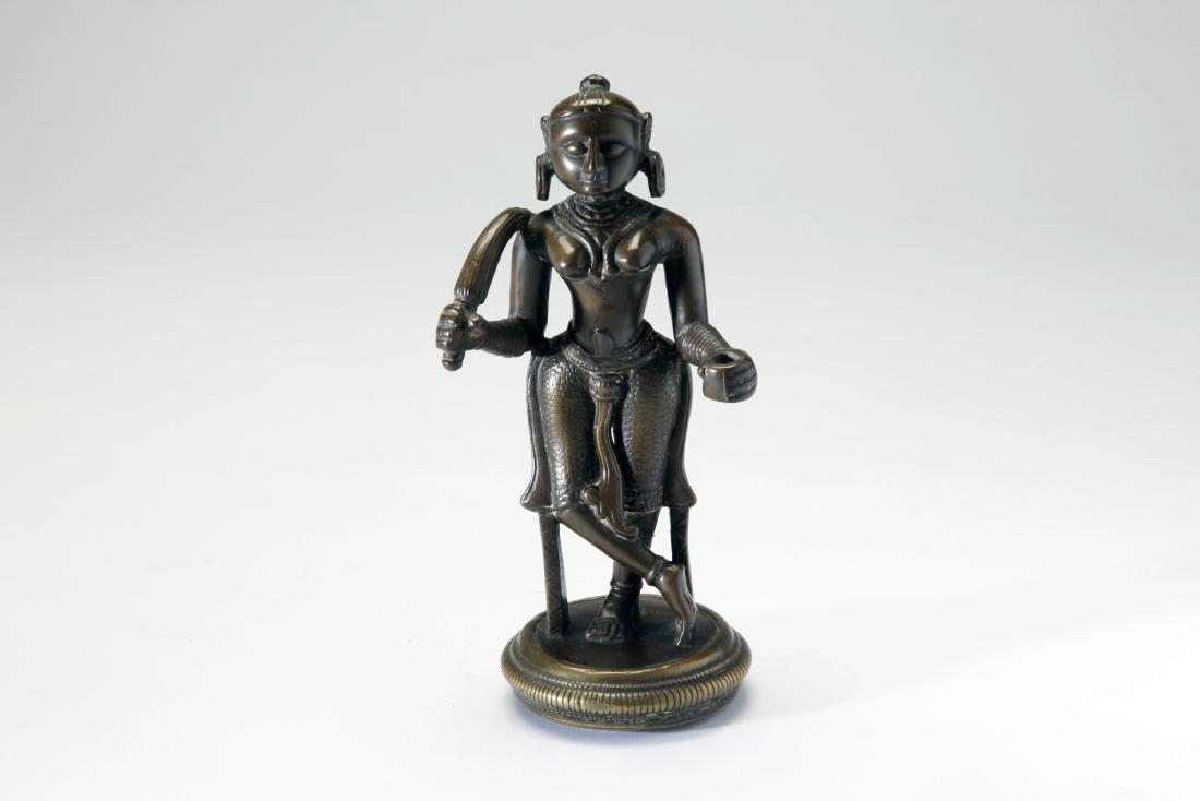 A Bronze Female Figure w/ Chauri