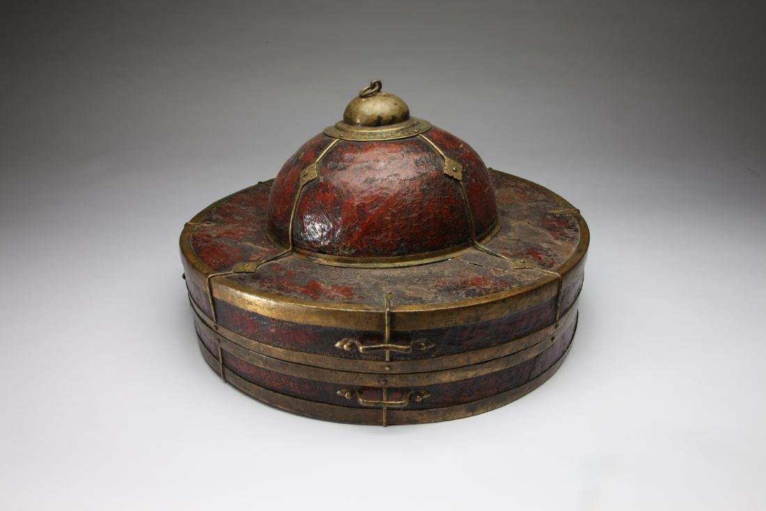 A Tibetan or Chinese Hat Box