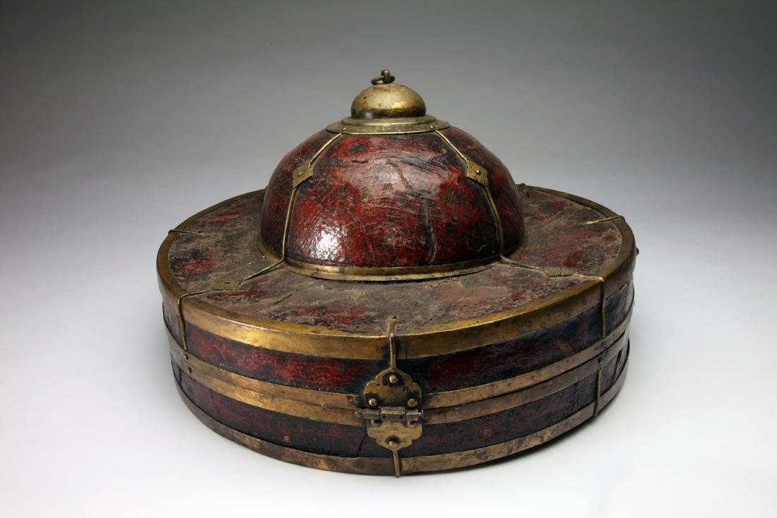 A Tibetan or Chinese Hat Box - 2