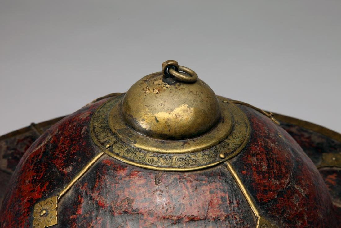 A Tibetan or Chinese Hat Box - 4