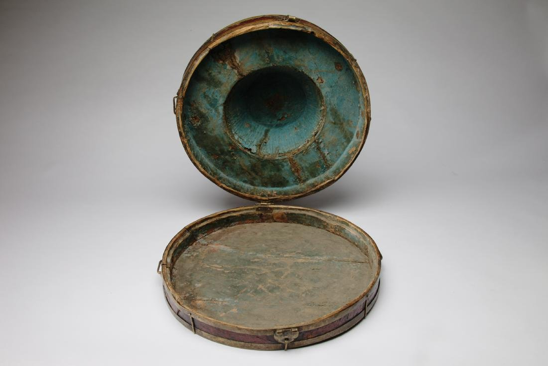 A Tibetan or Chinese Hat Box - 5