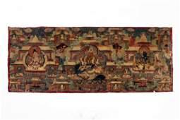 A Thang-ka on Leather