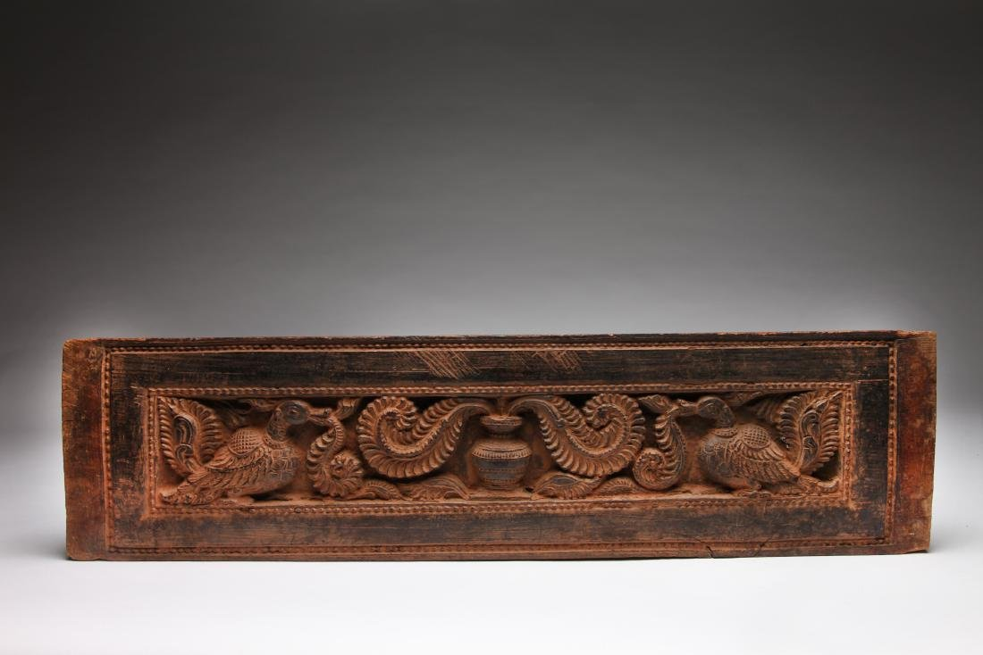 A Wood Panel or Sutra Cover