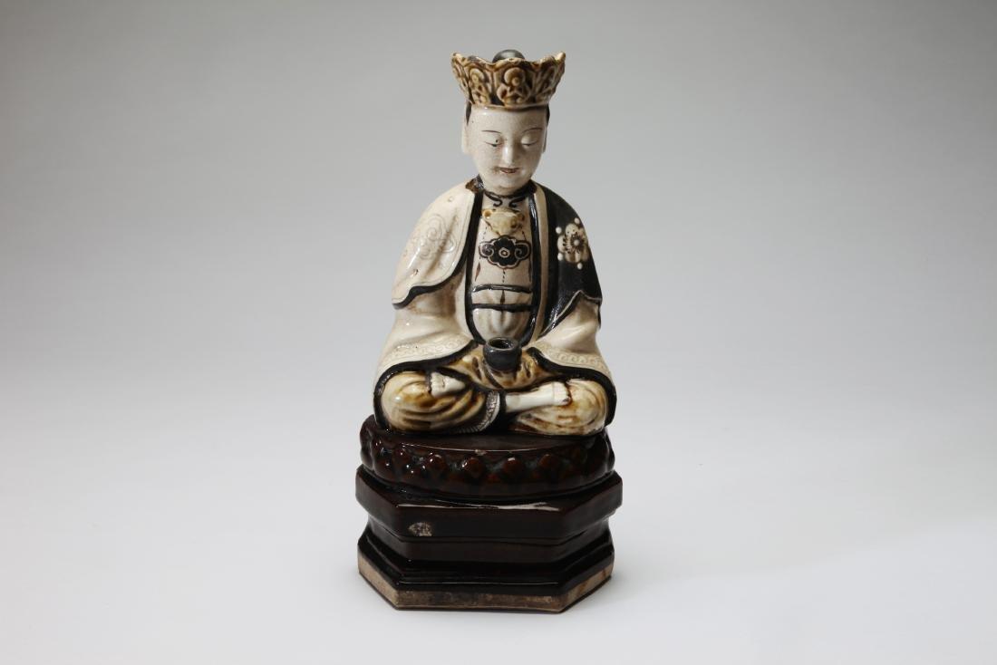 A Cizhou Ware Chinese Figure of A Bodhisattva