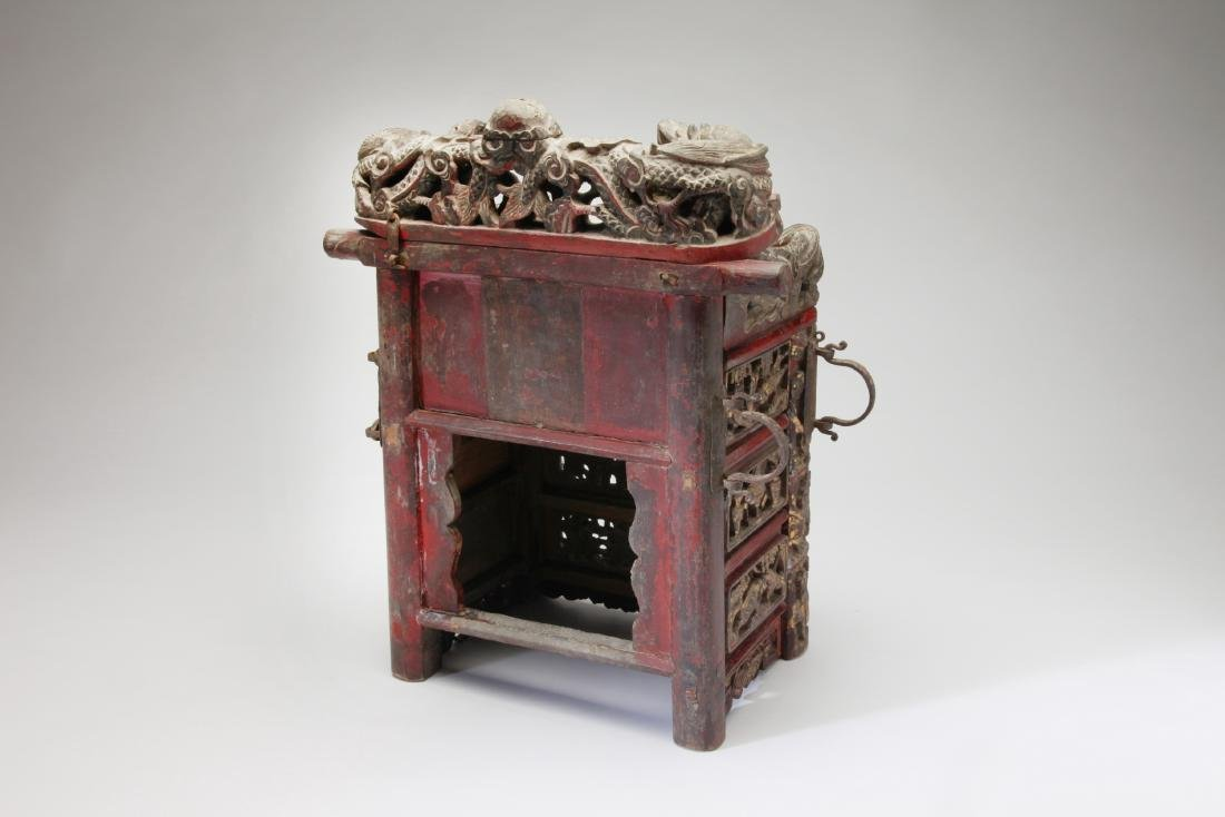 An Unusual Chinese Gilt wood Shrine/Throne - 2