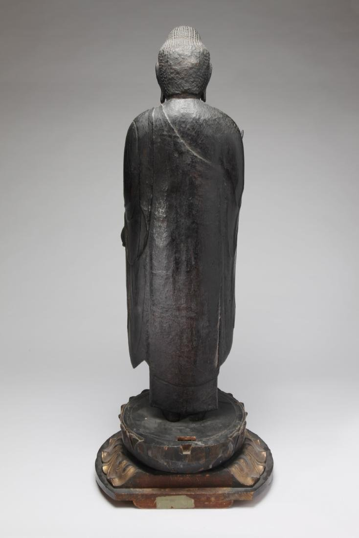 A Large Japanese Wood Figure of Buddha - 3