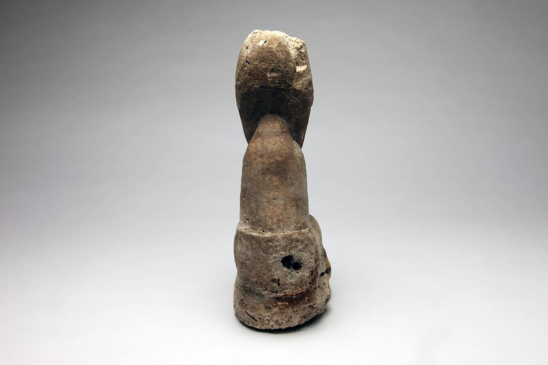 An Oceanic Stone Carving of Seated Figure . Ex. Joseph - 3