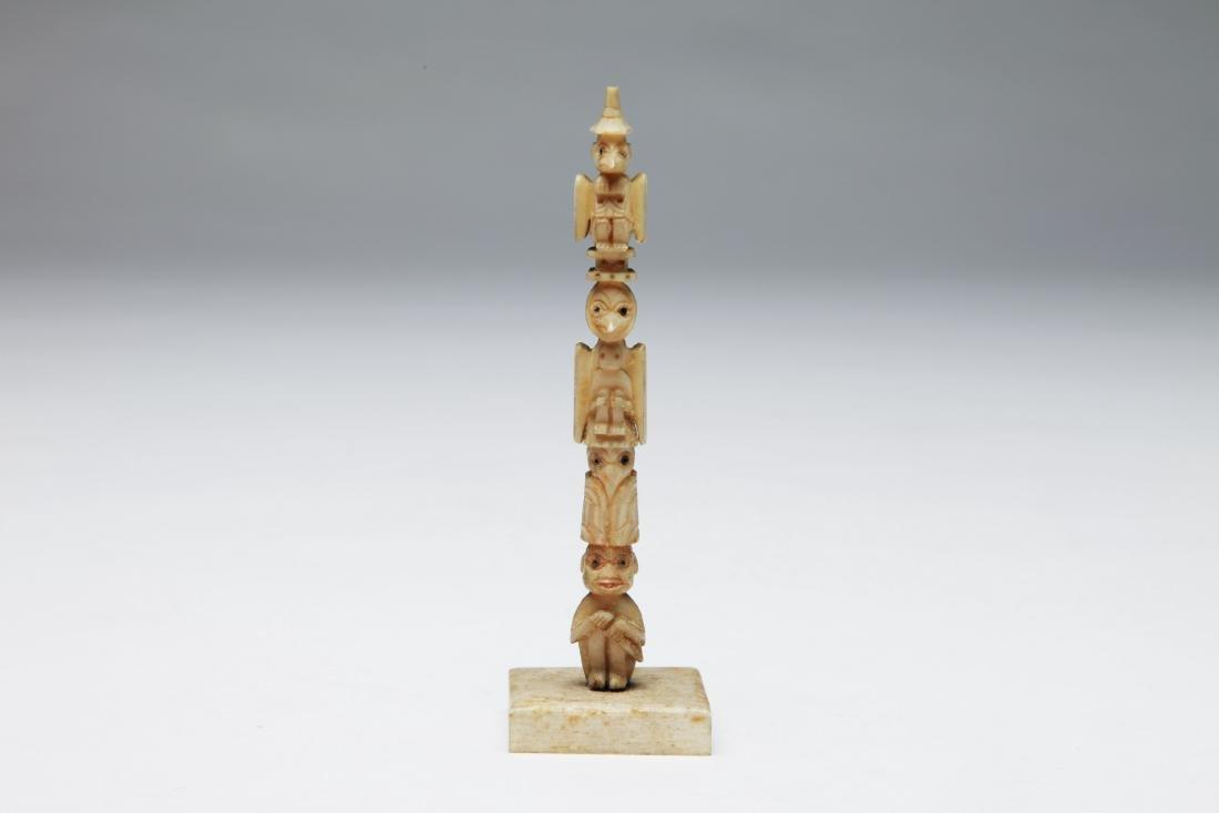 A Miniature Bone Totem Pole