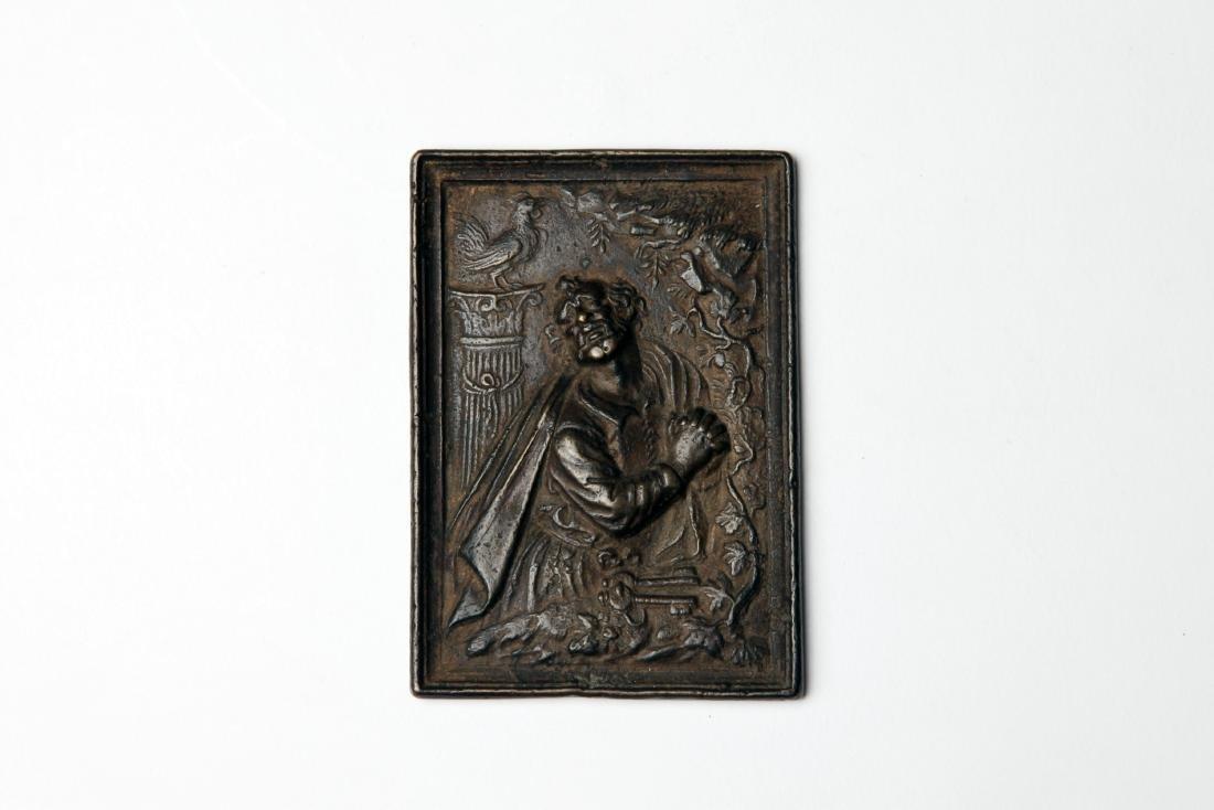 A Late Renaissance Bronze Plaque of St. Peter