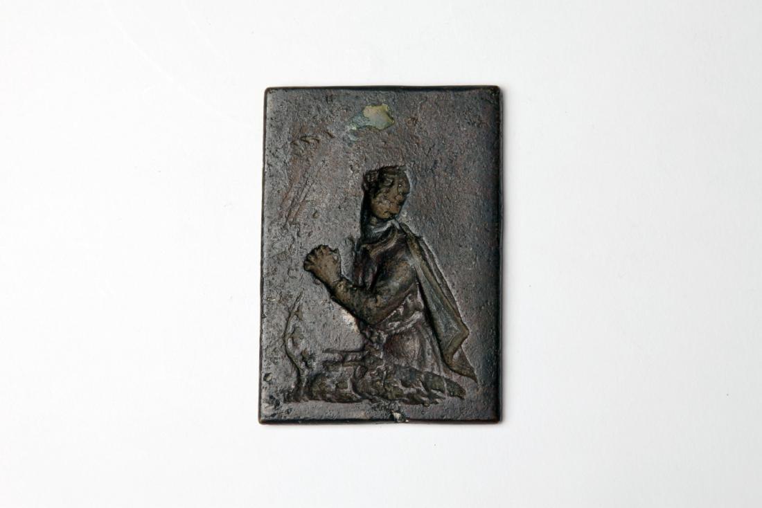A Late Renaissance Bronze Plaque of St. Peter - 2