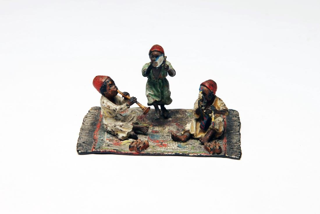 An Austrian Polychrome Cold Painted Bronze Group