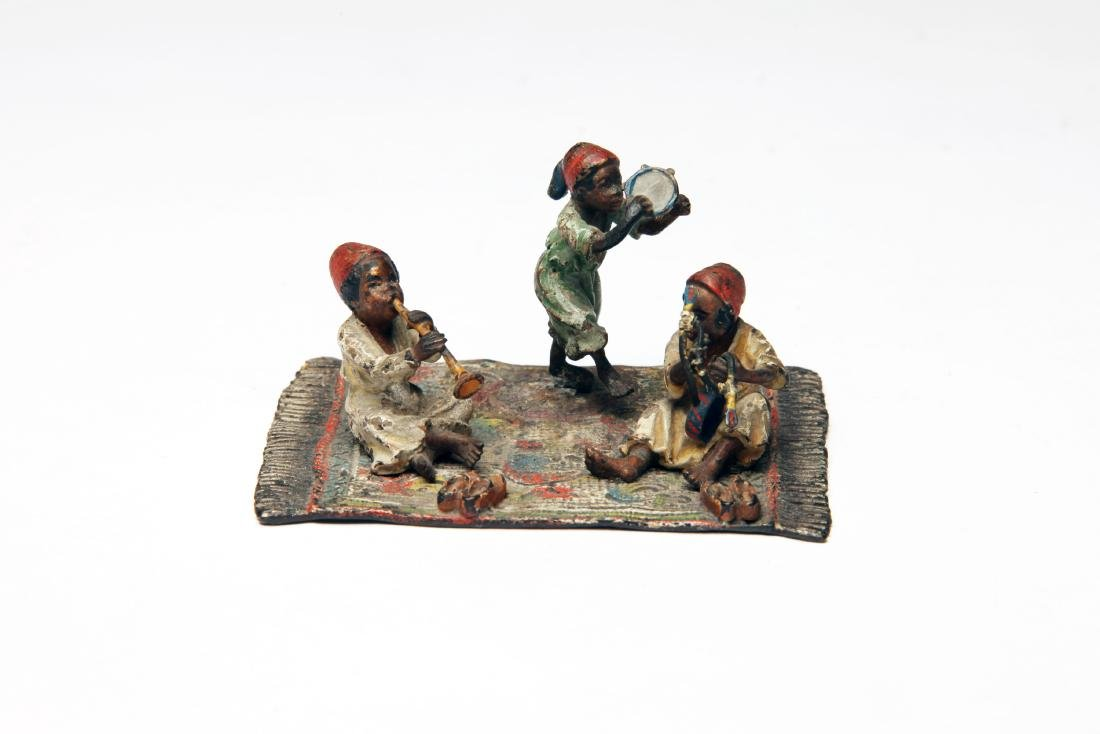 An Austrian Polychrome Cold Painted Bronze Group - 2