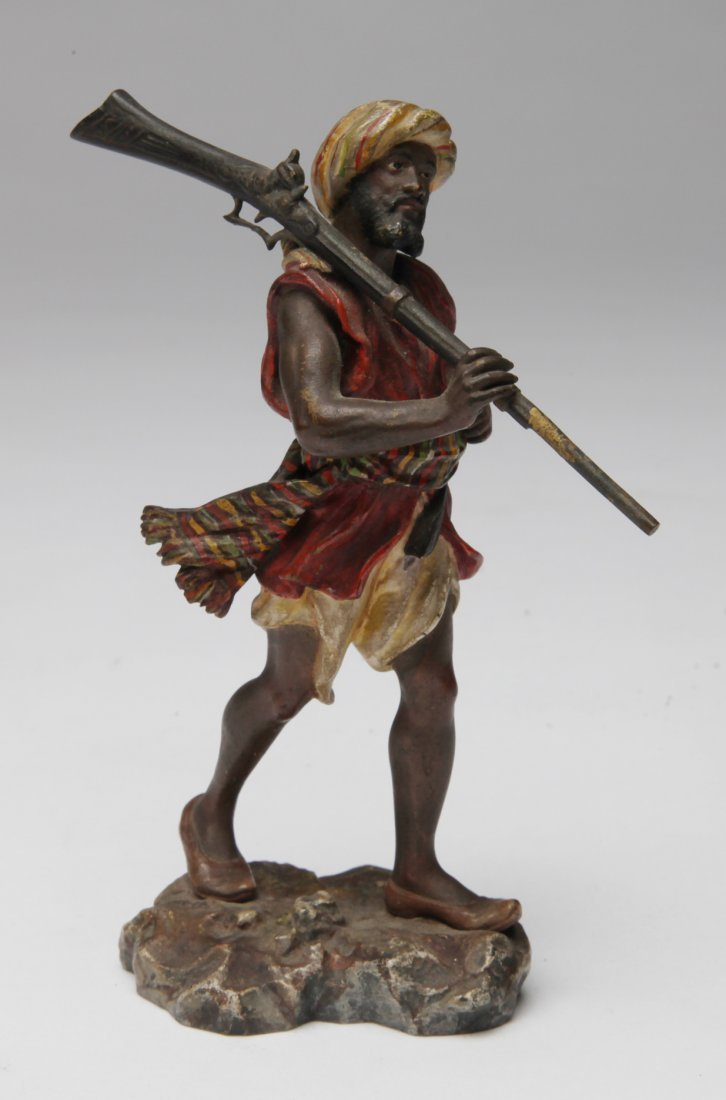 An Austrian Polychrome Cold Painted Bronze