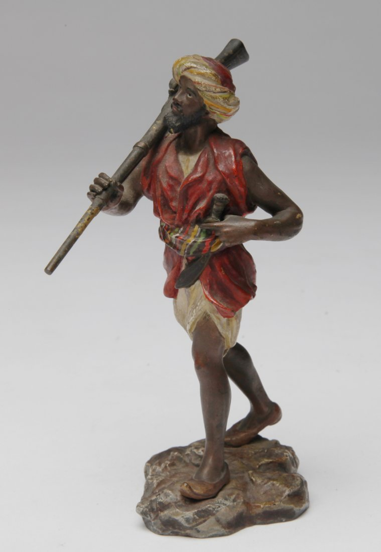 An Austrian Polychrome Cold Painted Bronze - 2