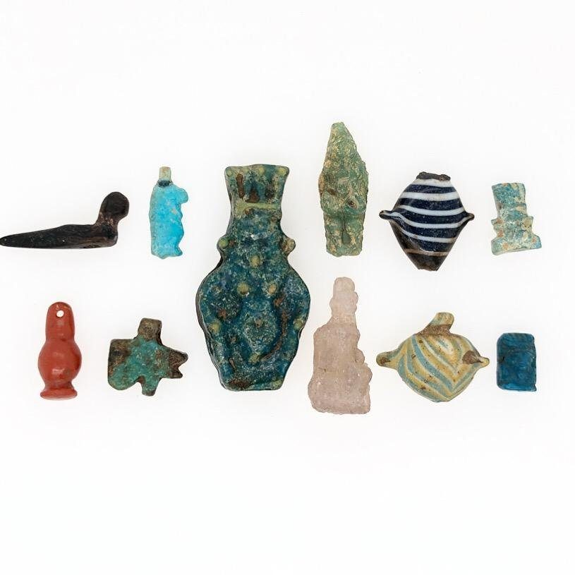Group of Eleven Ancient Egyptian Amulets