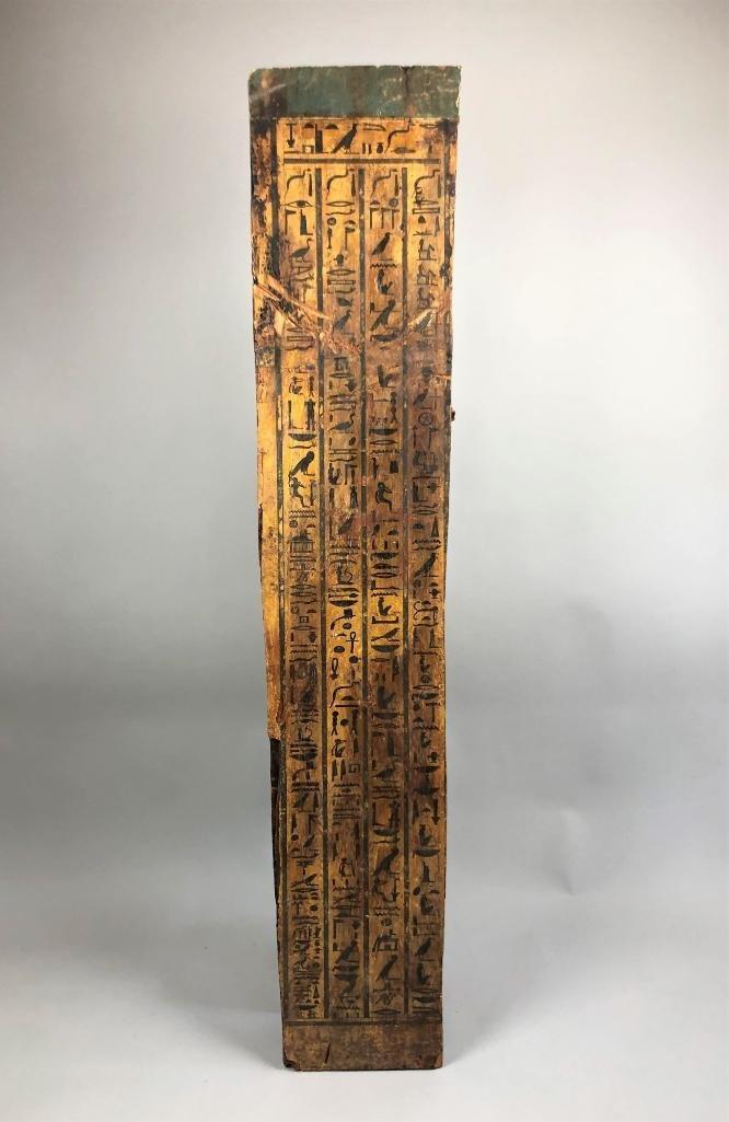 Large Egyptian Painted Wood Panel