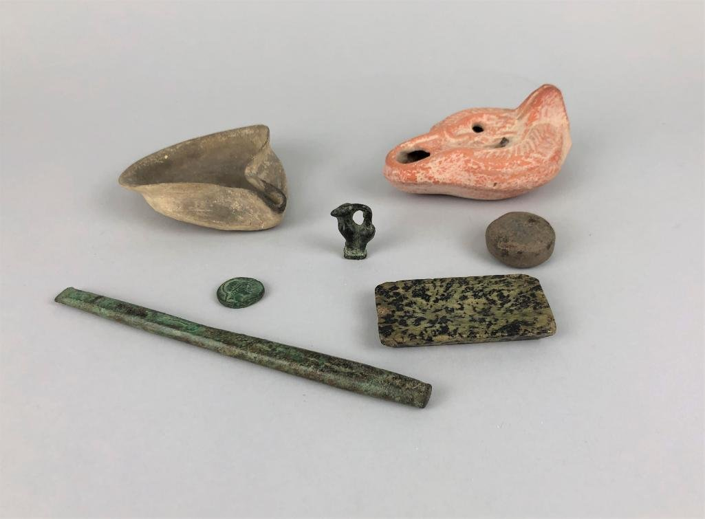 Interesting Collection of Seven Ancient Objects