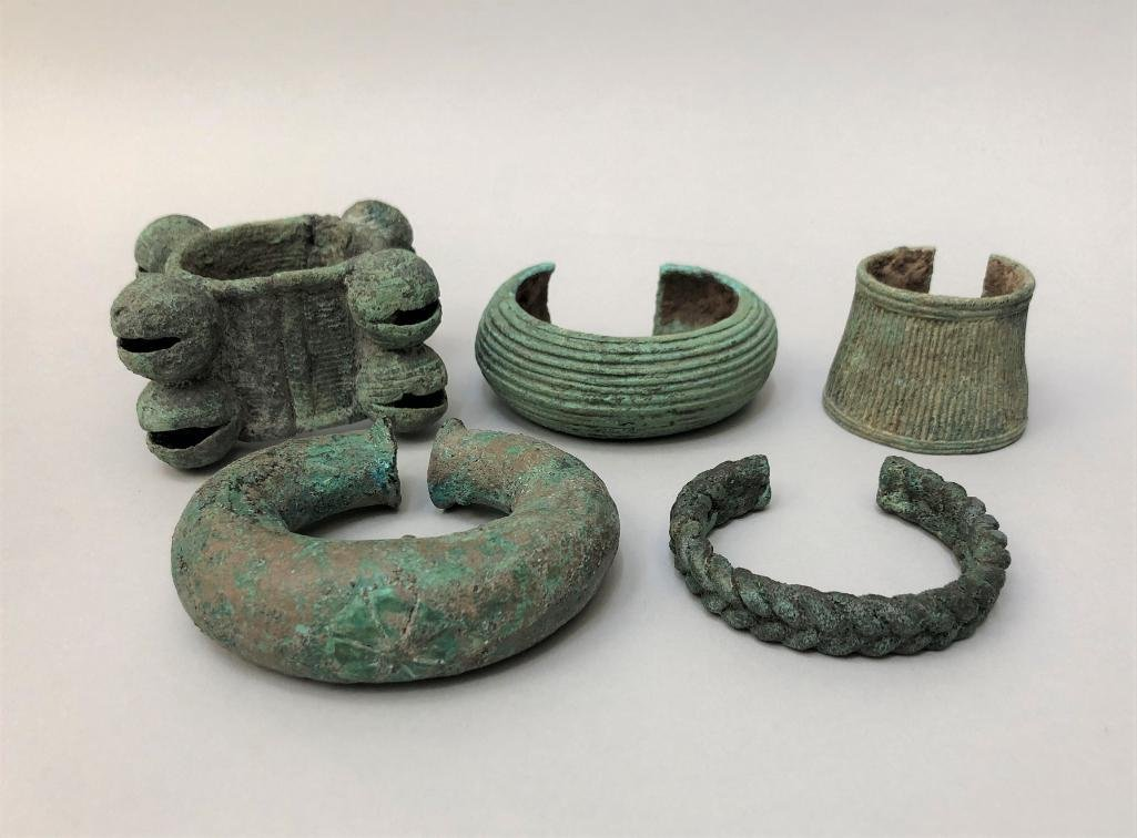 Five Ancient Dongson Bronze Bracelets
