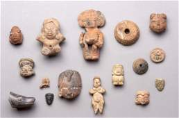 Sixteen PreColumbian Artifacts