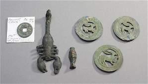 Six Ancient Bronze Artifacts