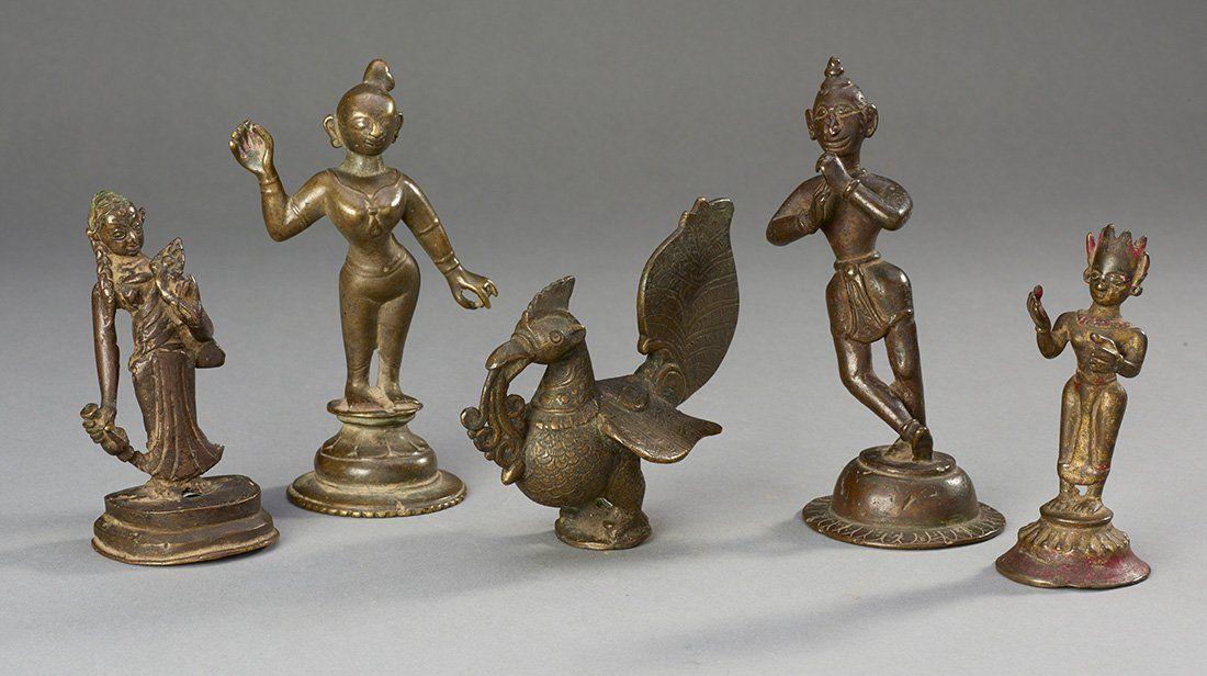 Five Indian Bronze Figures