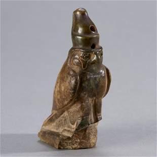 Fine Ancient Egyptian Hardstone Figure of Horus