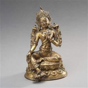 Fine Tibetan Gilt Bronze Tara