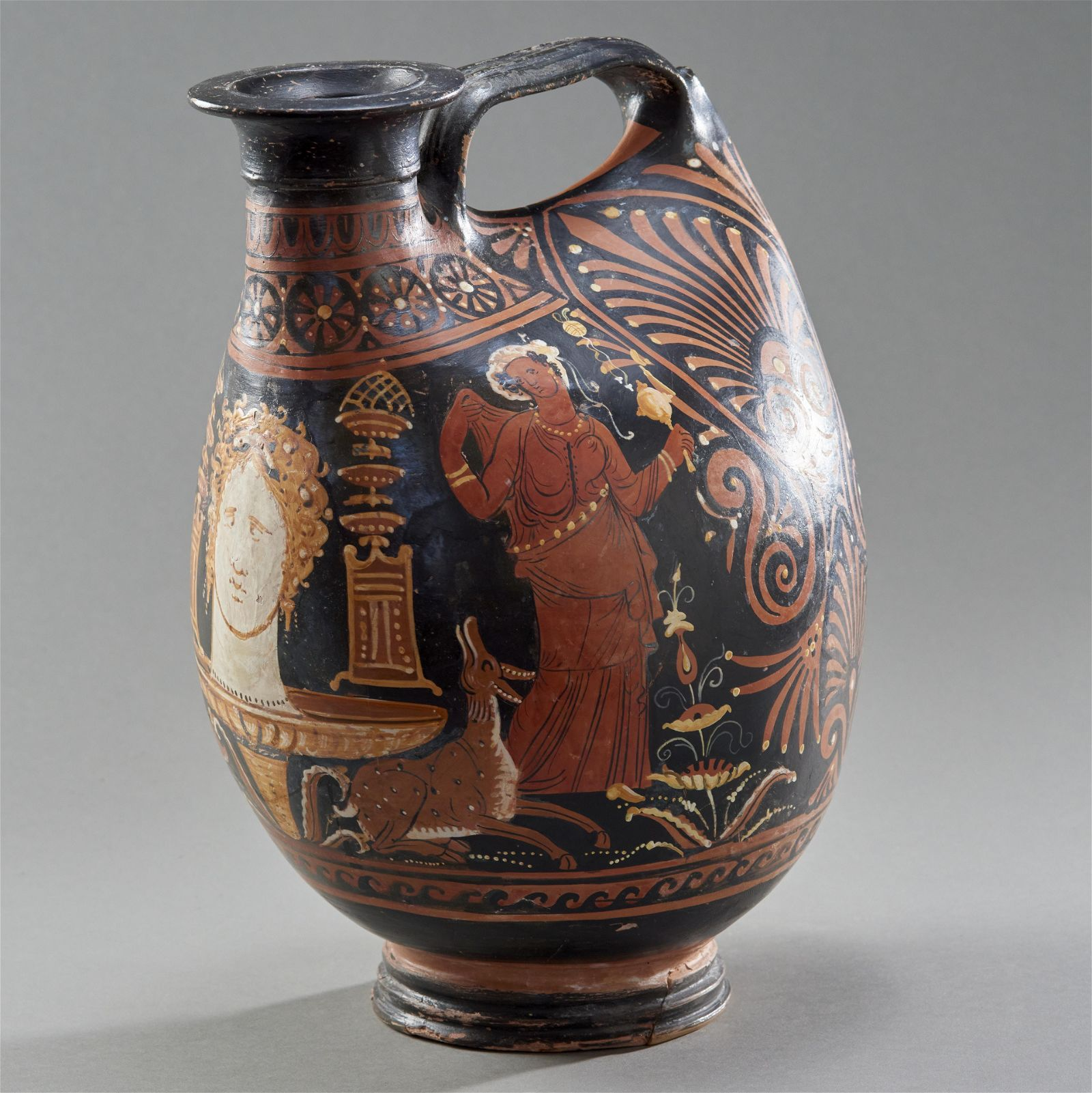 Important Ancient Red-Figured Askos by the Baltimore