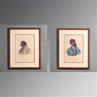 Pair of Antique Portraits of Native Americans