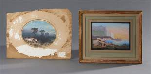 Two Fine Miniature Grand Tour Italian Watercolors
