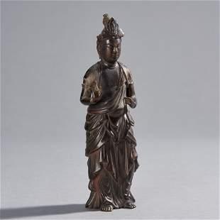 Early Japanese Bronze Kannon