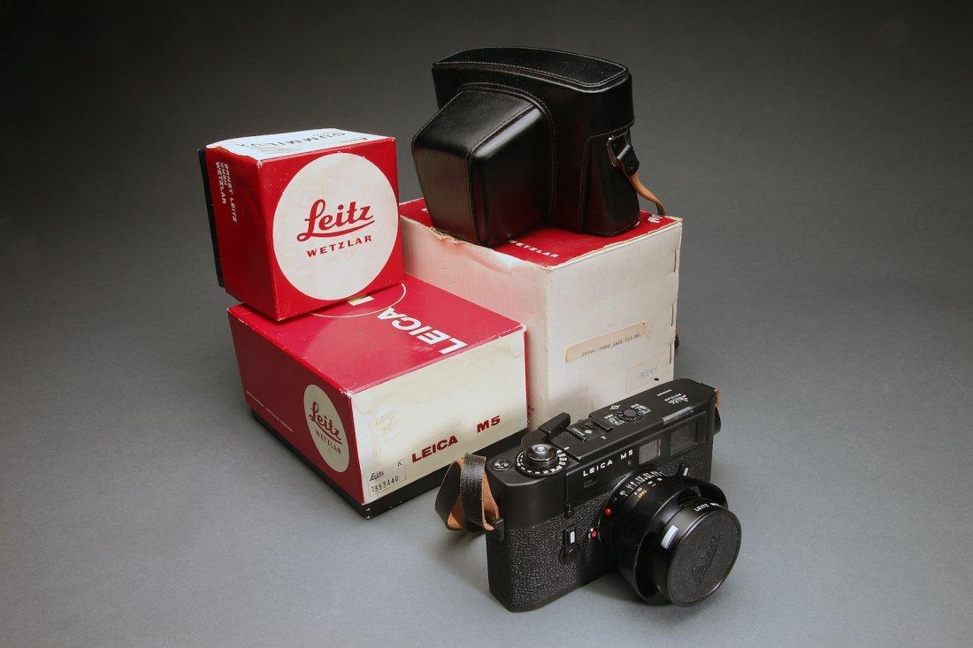 Leica M5 35mm Camera W/ Lens, Case, & Boxes
