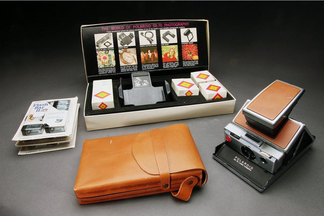 Polaroid SX70 With Case & Accessories
