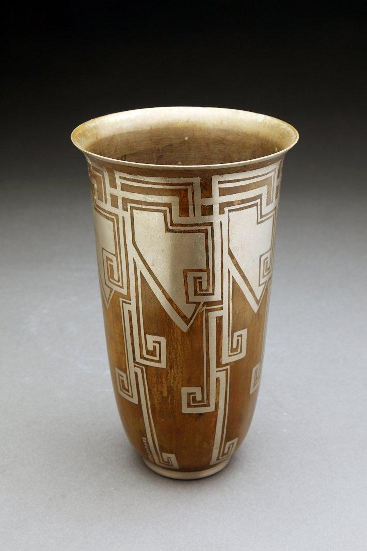 French Art Deco Dinanderie Desgranges Vase