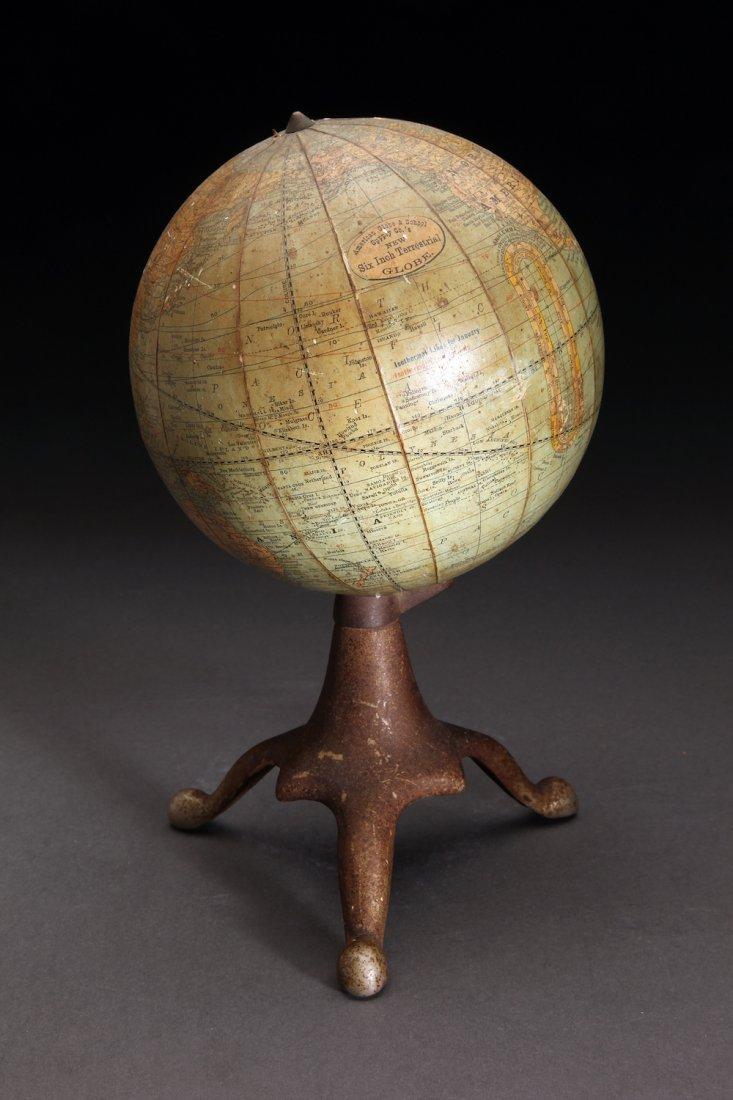 "Rare American Globe & School Supply 6"" World Globe"