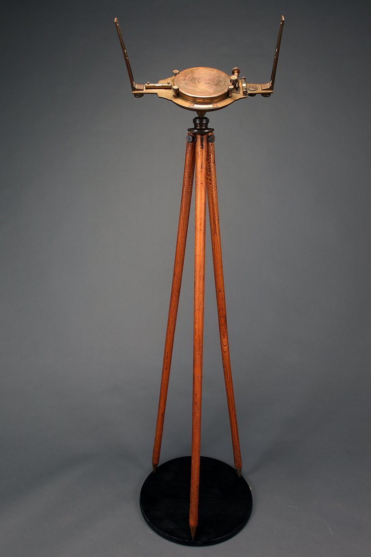 Rare 19thC W & L Gurley Brass Railroad Compass