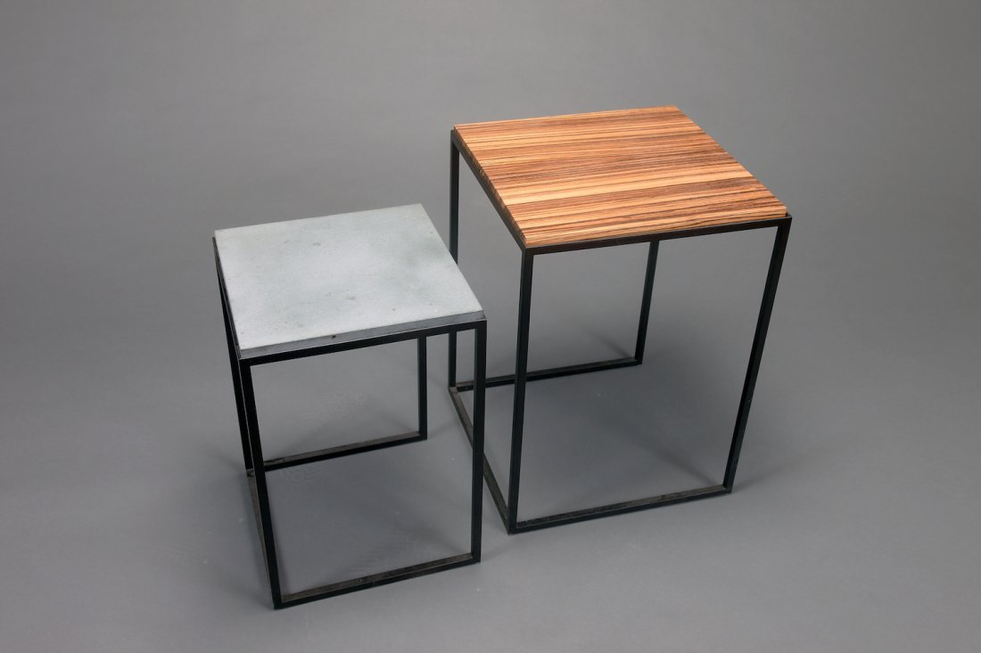Two Mid Century Donghia Metal Nesting Tables