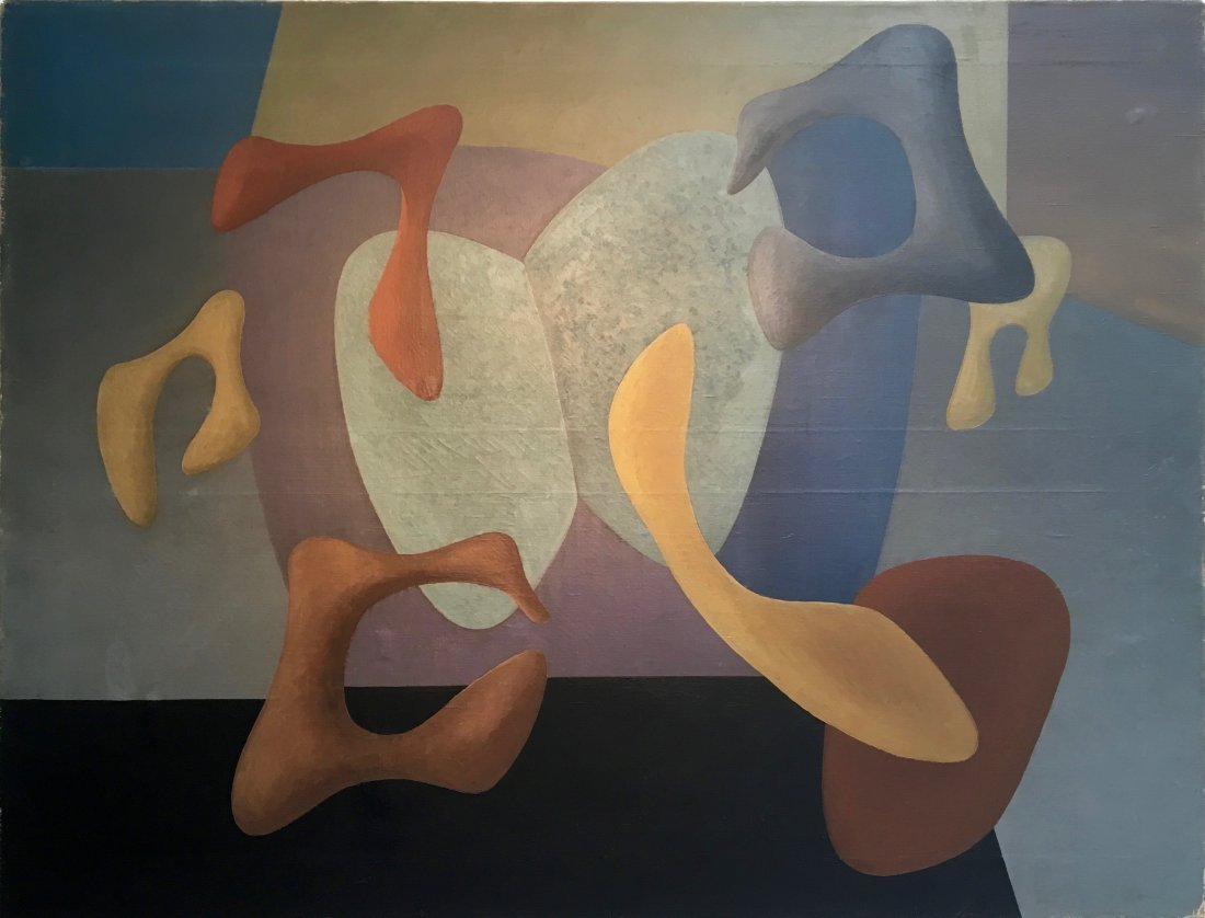 Charles Green Shaw Biomorphic Abstract Painting