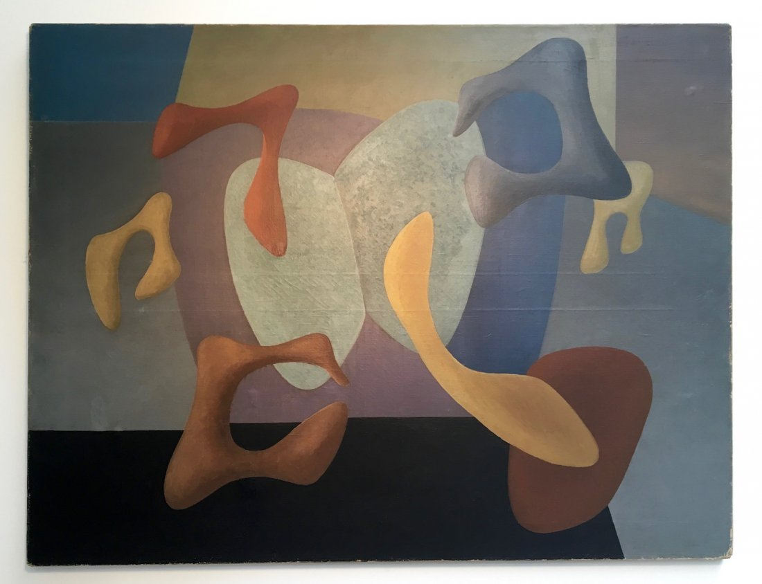 Charles Green Shaw Biomorphic Abstract Painting - 2