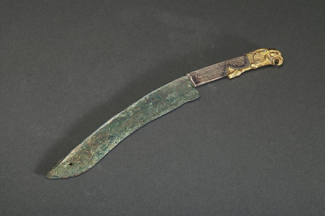 Ancient Bronze, Silver, Gold Scythian Knife