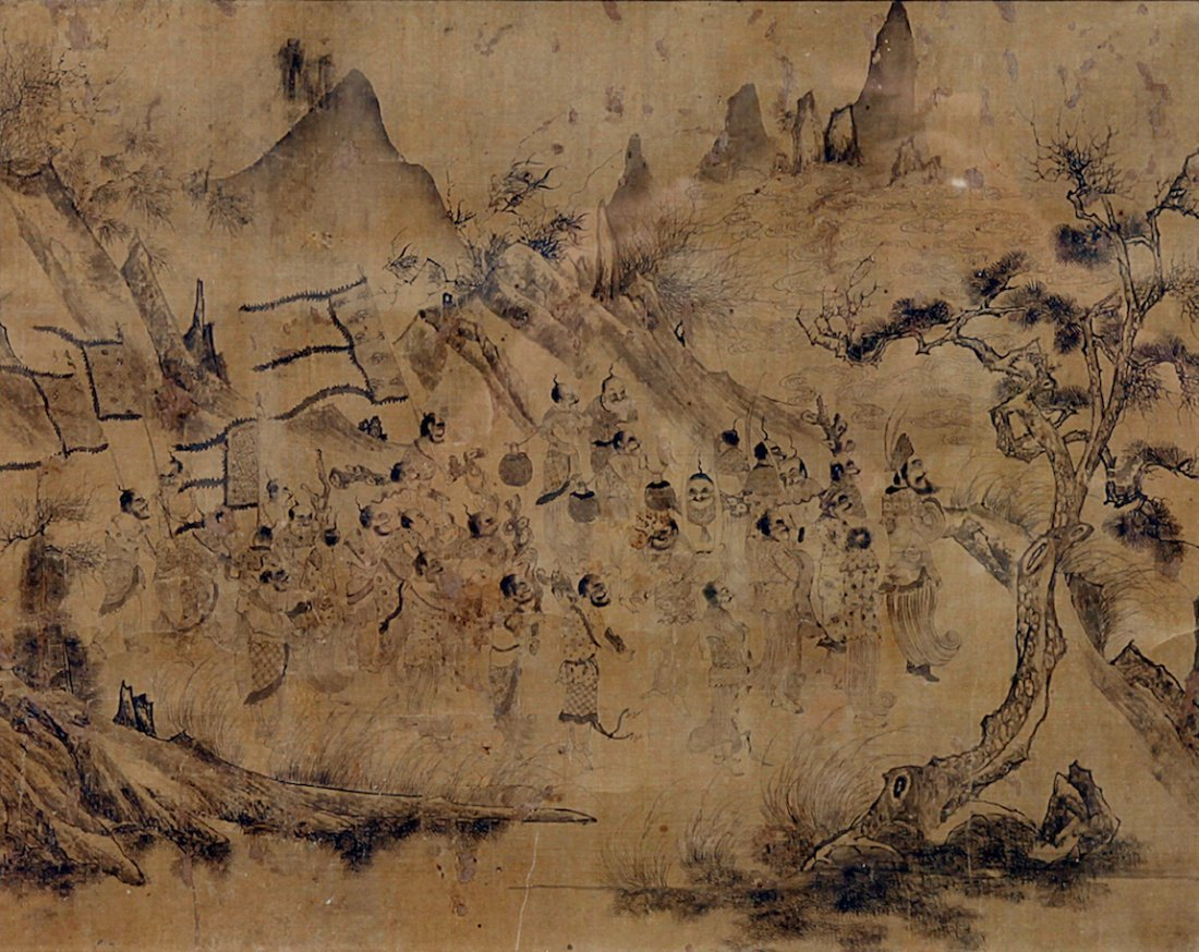 Chinese/Korean Early Landscape Painting on Silk