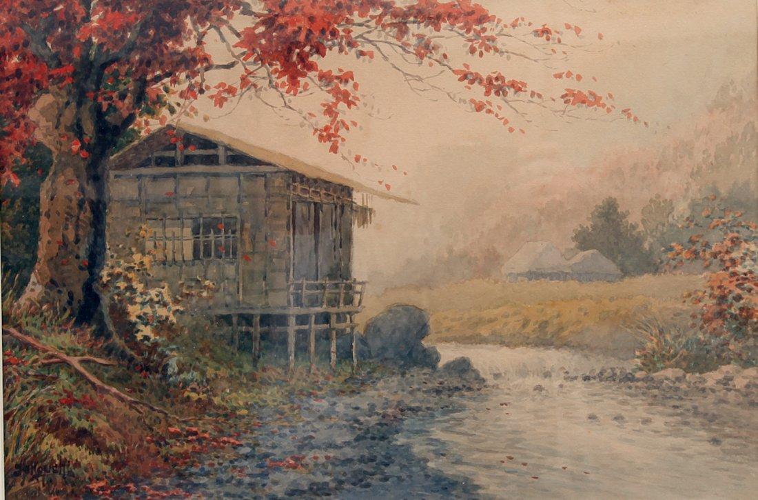 Japanese Tasuke Yokouchi Landscape W/C Painting