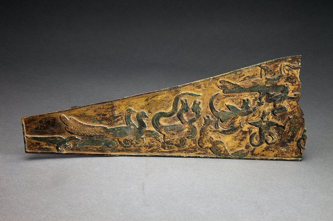 Ancient Gilt Bronze Chinese Fragment