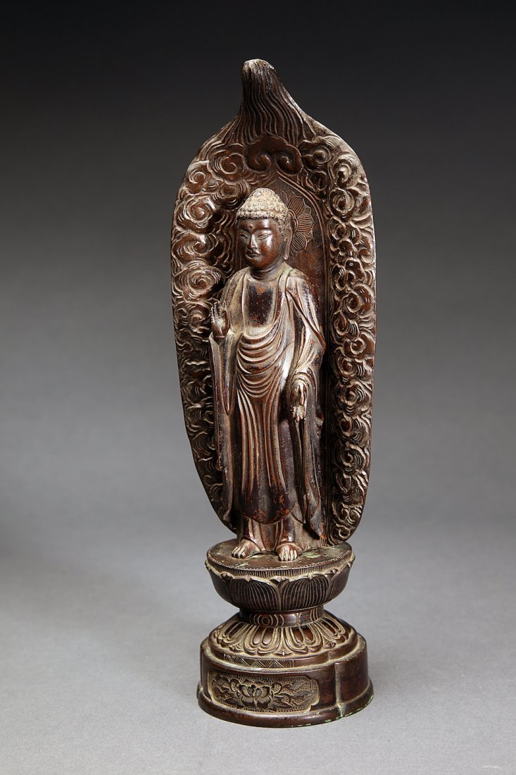Antique Japanese Bronze Figure of Buddha