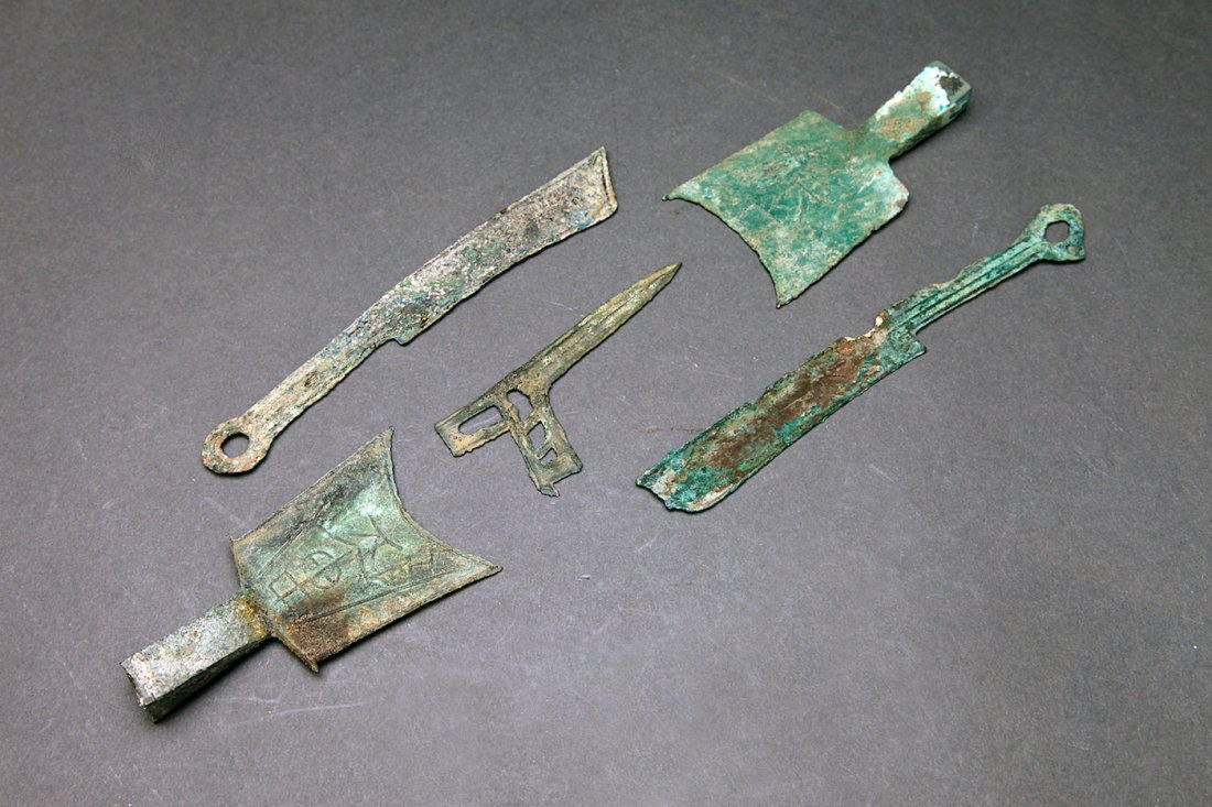 5 Pcs. Archaic Chinese Blade Money