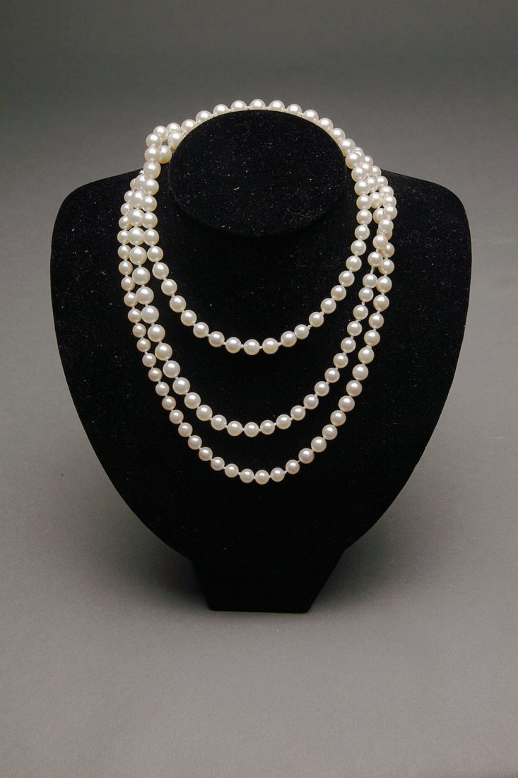Tiffany & Co. Platinum Diamond Pearl Necklace