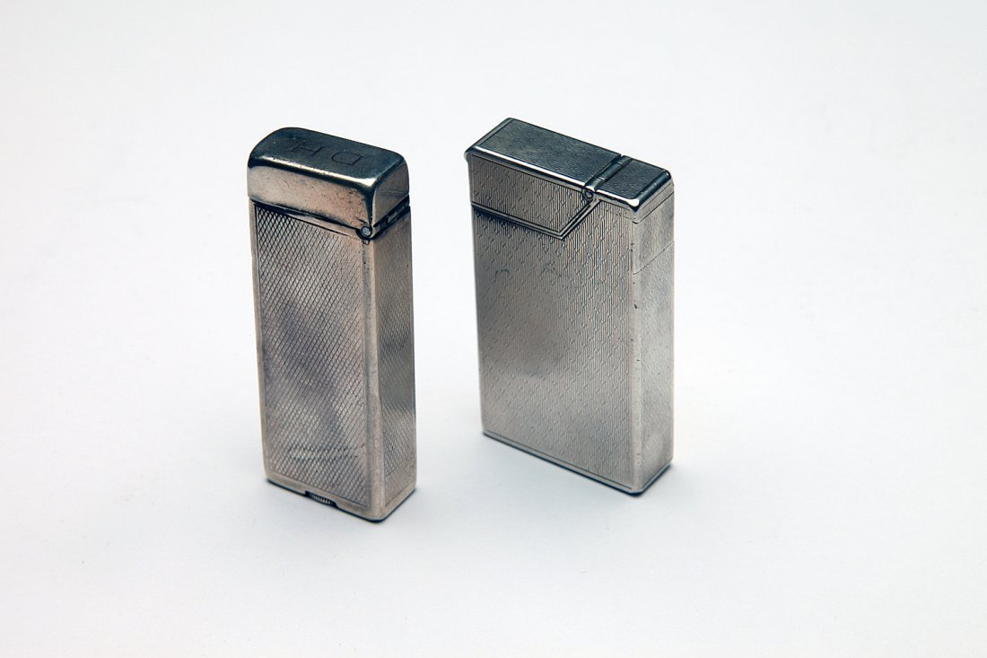 2 Sterling Silver Dunhill Cigarette Lighters