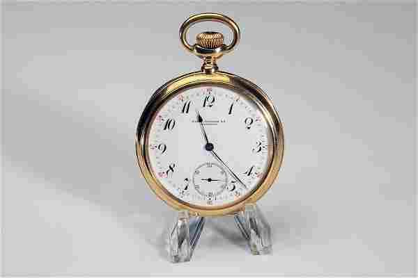 18K Gold Patek Philippe Pocket Watch 18 Size