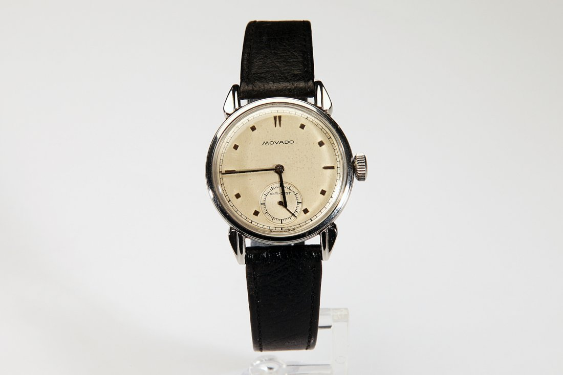 "Rare Movado ""Anti-Dust"" Steel Case Wristwatch"